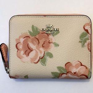 Coach Small Zip Around Wallet - Jumbo Floral